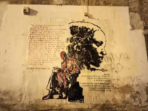 Spunta un murales contro Montanelli