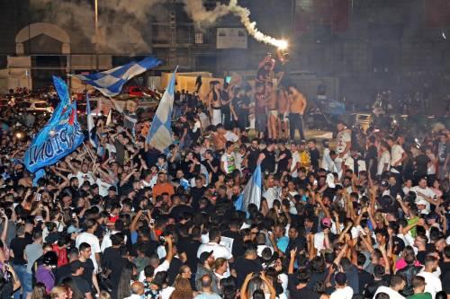 I festeggiamenti a Napoli per la Coppa Italia 3