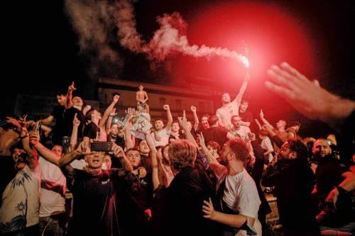 I festeggiamenti a Napoli per la Coppa Italia 5