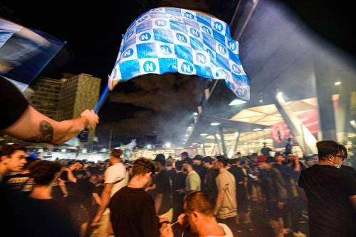 I festeggiamenti a Napoli per la Coppa Italia 7