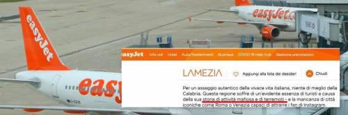 """""""Calabria terra di mafia e terremoti"""", bufera su sito easyJet"""