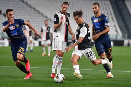 La Juventus cala il poker contro il Lecce: 4-0 e fuga scudetto