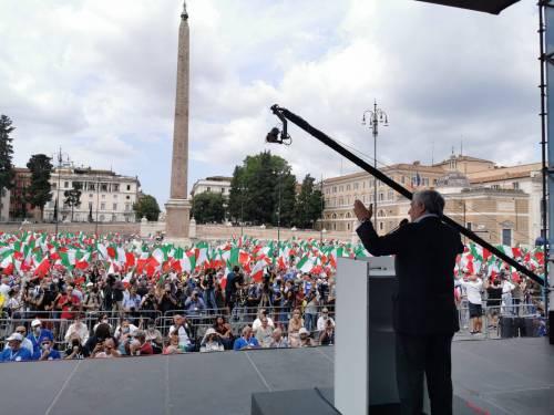 Manifestazione del centrodestra contro Conte 2