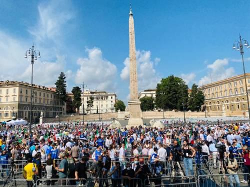 Manifestazione del centrodestra contro Conte 5