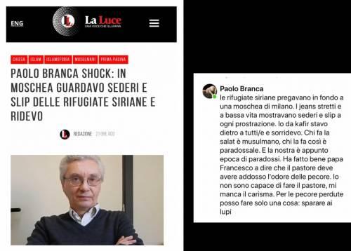 L'incredibile invettiva del sito di Piccardo contro Paolo Branca