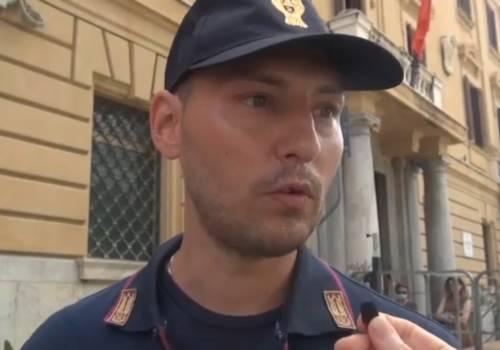 """Agente salva 10 persone dal nubifragio di Palermo: """"C'era il panico"""""""