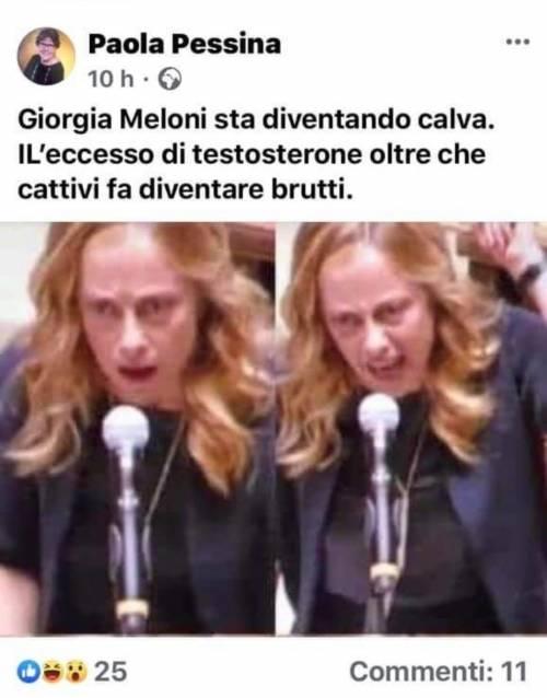 """""""Guardate è pure calva..."""" I vergognosi insulti dell'ex sindaco Pd alla Meloni"""