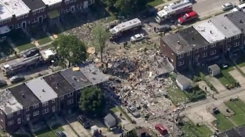 Usa, violenta esplosione a Baltimora: un morto e numerosi feriti