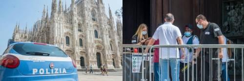 Migrante semina il panico in Duomo: punta il coltello all'agente e lo fa inginocchiare