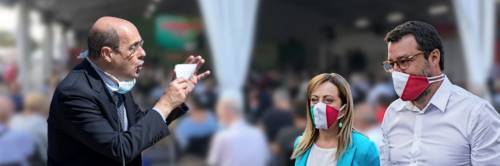 """""""Con loro solo fosse comuni"""" L'attacco choc di Zingaretti a Salvini e Meloni"""