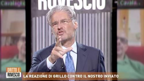 """Del Debbio massacra Grillo: """"È un poveraccio senza cog..."""""""