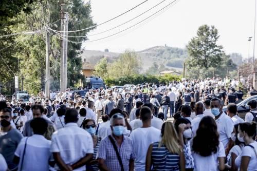 I funerali di Willy al campo sportivo di Paliano 6
