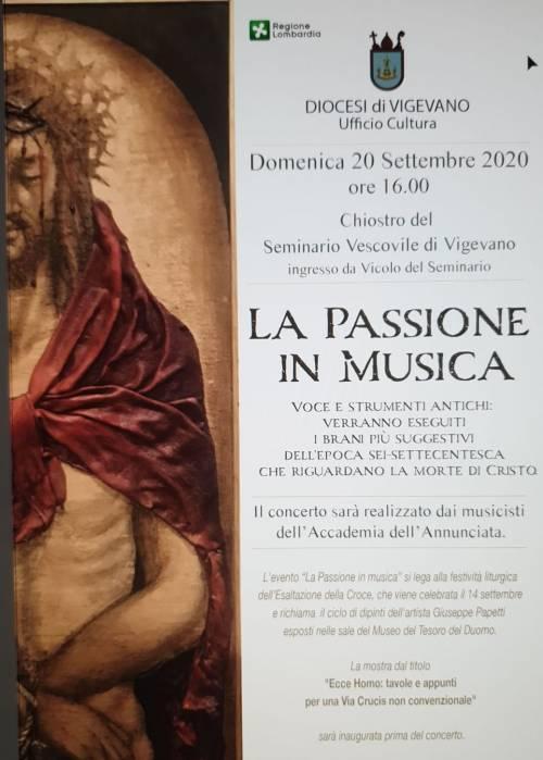 Vigevano, concerto classico per l'esposizione della Via Crucis di Papetti