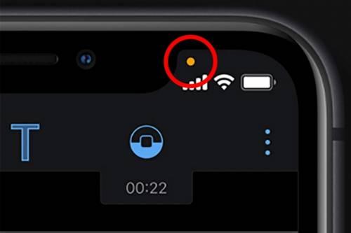 Attenti a questo puntino arancione: qualcuno sta ascoltando la telefonata