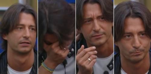 """Alba Parietti telefona in diretta al GfVip. Oppini imbarazzato, il labiale: """"Ma dai..."""""""