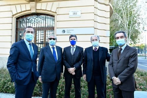 da sinistra: Sala, Roth, Pazzali, Prodi, Fontana