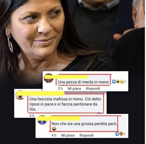 Vergogna sul web: frasi di odio contro Jole Santelli
