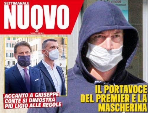 Regole anti Covid di Casalino: ha la mascherina sotto il naso