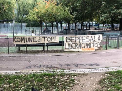 Milano infestata dai topi: striscioni di protesta contro Sala 3