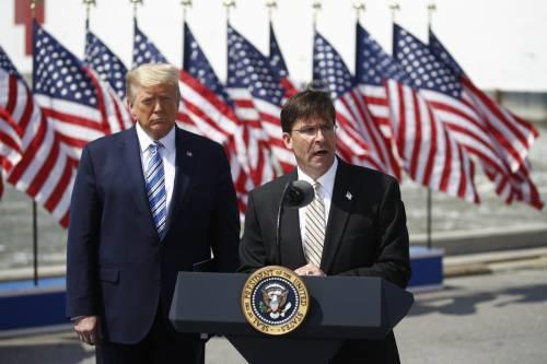 """Prime """"purghe"""" di Trump: via il capo della Difesa"""