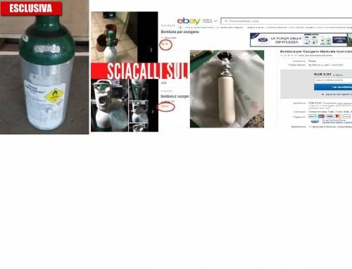 Le foto della vergogna: ecco chi specula sulle bombole d'ossigeno