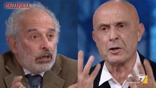 """""""Scusa perché stai ridendo...?"""" Minniti umilia in tv Gad Lerner"""