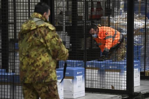 Soldati e carabinieri, l'anti virus