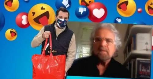 Salvini mazziato, Grillo coccolato dai media