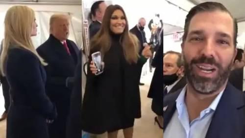 Gloria, i balli e la festa: ecco il backstge del discorso di Trump
