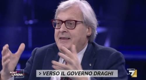 """Vittorio Sgarbi: """"Ecco quando Renzi ha chiesto incontrare Draghi per la prima volta"""""""