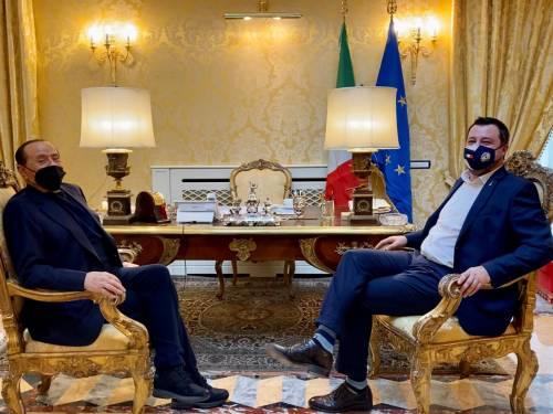 """Berlusconi e Salvini: """"Sostegno a Draghi con responsabilità e senza veti"""""""
