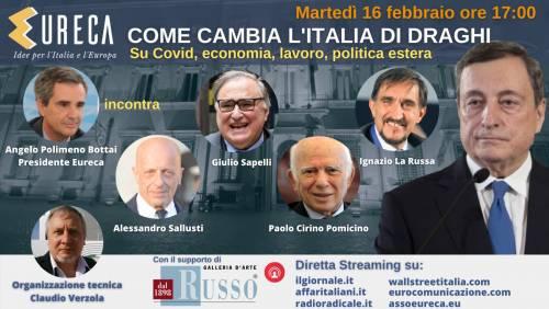Come cambia l'Italia di Draghi. La diretta con Sallusti e Sapelli