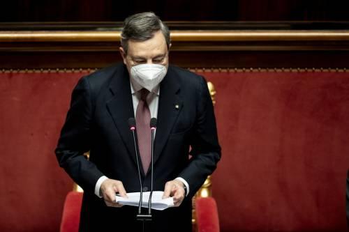 """Draghi al Senato per la fiducia: """"Italia più orgogliosa in Europa"""""""