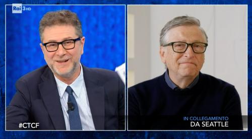 Bill Gates fa il gretino da Fazio. Ma tace sull'acquisto di jet privati