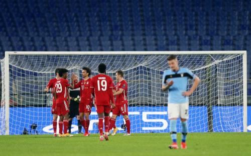 Il Bayern annienta la Lazio: 1-4 ed eliminazione dalla Champions vicina