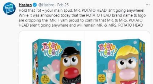 """Follia politically correct: """"Basta Mr e Mrs Potato"""". Ma scoppia la bufera"""