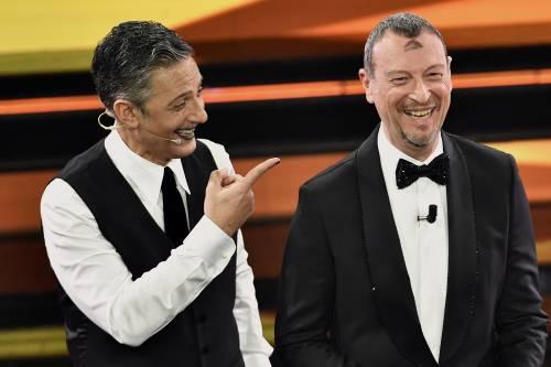 """Sanremo, Fiorello: """"Una poltrona vuota è come Zingaretti senza la d'Urso"""""""