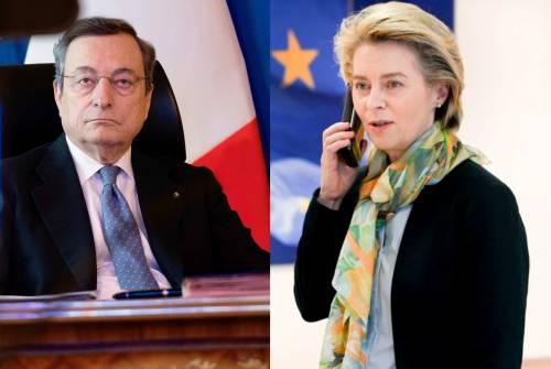 """Draghi sente Von der Leyen: """"Più proporzionalità nella gestione migranti"""""""