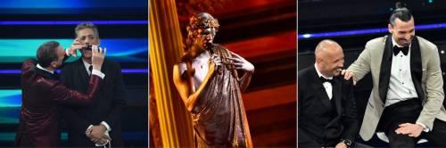 Sanremo, interminabile serata. Achille Lauro sta nell'Olimpo