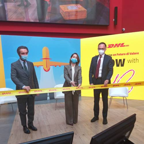 Dhl inaugura il maxi hub per le merci a Malpensa con un investimento di 110 milioni di euro