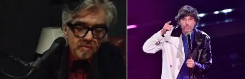 """Sanremo, il contro-Festival di Morgan su Instagram: Bugo canta, lui lo """"zittisce"""""""