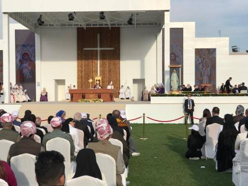 """Papa Francesco a Erbil: """"Qui la Chiesa è viva"""""""
