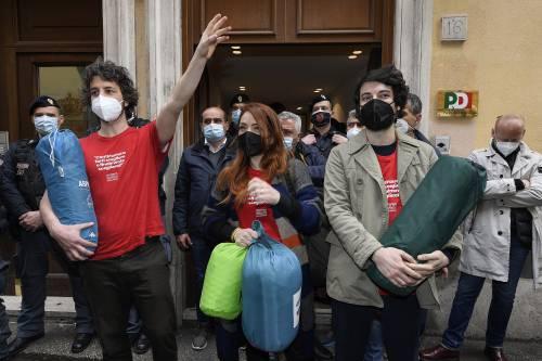 Le Sardine a Roma nonostante i divieti anti Covid