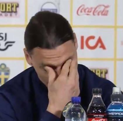 Ibrahimovic piange in conferenza stampa