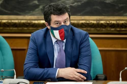 """""""Riaperture e nuovi protocolli"""". Salvini va in pressing su Draghi"""