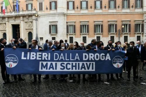 """""""In Italia situazione droghe fuori controllo"""". E FdI fa il test ai suoi parlamentari"""