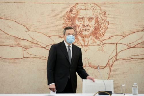 """Draghi vuol riaprire: """"Ma usiamo la testa"""""""