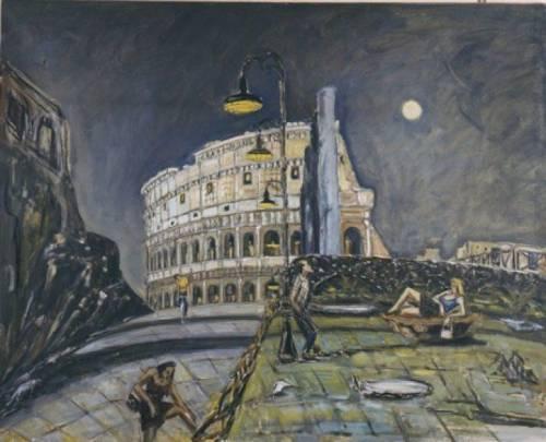 """Il notturno Stradone. La """"Figura"""" visionaria della scuola romana"""