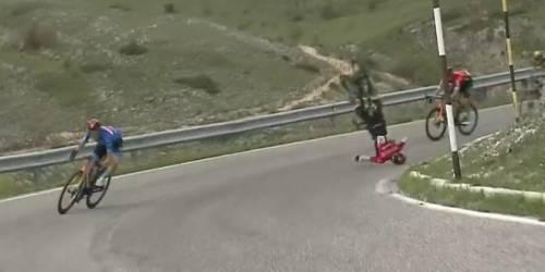 Quel terribile volo sfortunato e fortunato di Mohoric