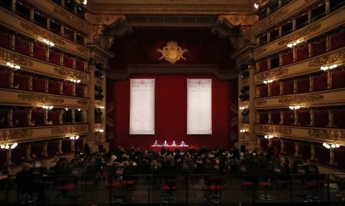 """La """"zona bianca"""" e la Scala si allarga. Ora in teatro fino a 760 spettatori"""